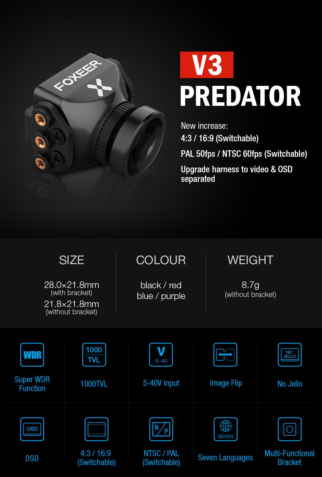 Foxeer Mini Predator v3