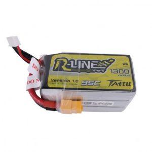 Tattu 1300mah R-Line 95C 6S 1300mAh Lipo Battery Pack with XT60 Plug