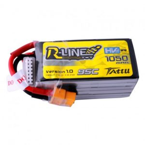 Tattu R-Line 1050mAh 95C 6S1P Lipo Battery Pack with XT60 Plug
