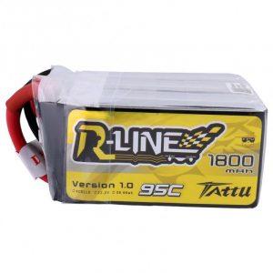 Tattu R-Line 1800mah 6S 95C 22.2V Lipo Battery
