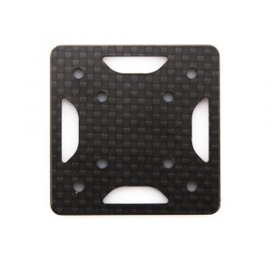 The replacement QAV-SKITZO Dark Matter FPV Freestyle Quadcopter Arm Bottom Plate made of 3mm thick 3k carbon fiber.