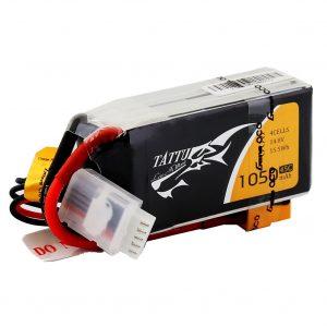 Tattu 1050mAh 14.8V 45C 4S1P Lipo Battery Pack with XT60 Plug