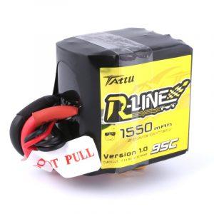 Tattu R-Line 1550mAh 95C 4S1P Square Lipo Battery Pack with XT60 Plug