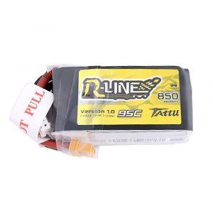 Tattu R-Line 850mAh 14.8V 95C 4S1P Lipo Battery Pack with XT30 Plug