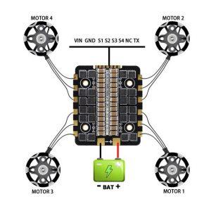 HGLRC FD445 Stack diagram