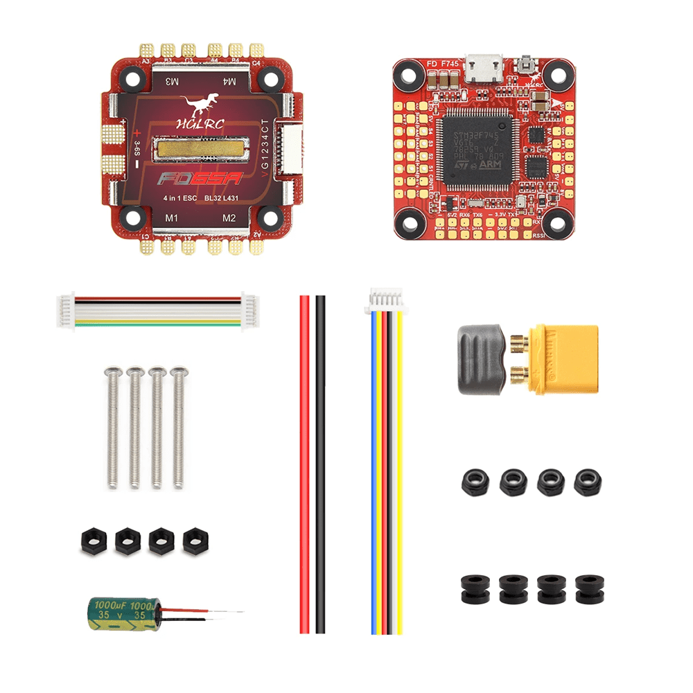 HGLRC FD765 F7 FC & 65A BL_Heli 4in1 3-6s ESC Stack - MyFPV on