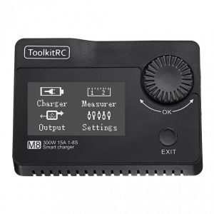 ToolkitRC M8 300W 15A Charger, Cell Checker, Servo Tester