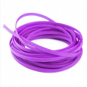 6mm Snakeskin Mesh Wire Protecting PET Nylon Cable Sleeve purple